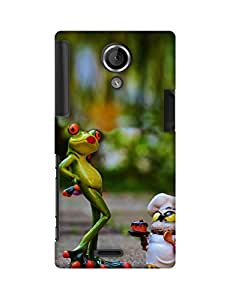 Mobifry Back case cover for Sony Xperia T Mobile ( Printed design)