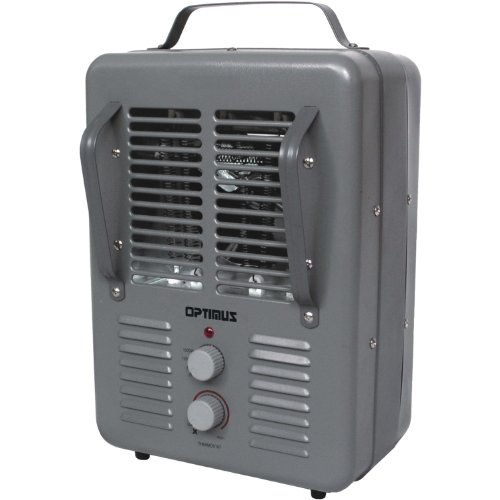 Optimus H-3013 Portable Utility Heater with Thermostat (Grey)