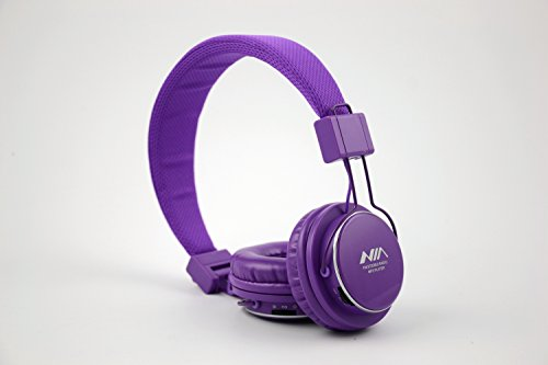 Granvela A809 Foldable Headphone Headset New Fashion Brand Music Player Wireless Handsfree Headset Headphones Earphone,Support Tf Card Fm Radio Monitor Portable Audio Pc --Purple