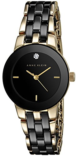 anne-klein-damen-ak-1610bkgb-diamond-dial-gold-tone-and-black-ceramic-bracelet-armbanduhr