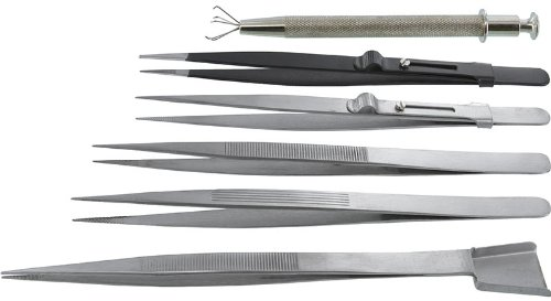 SE - Tweezers Set - Diamond, 6 Pc - TW2-407