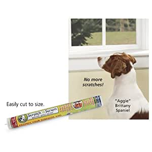 Scratch N Scram - Stops Dog Scratches on Doors. Protects Surfaces. Peel, Stick Protect!