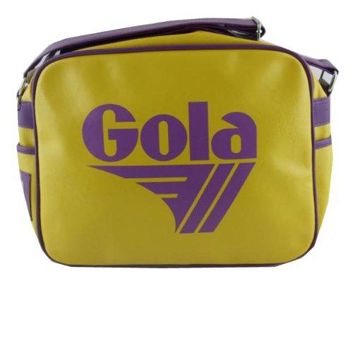 Gola Yellow Purple Retro Redford Shoulder Record Bag
