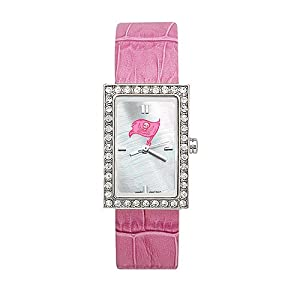 Tampa Bay Buccaneers Ladies NFL Starlette Watch (Leather Band) by Logo Art
