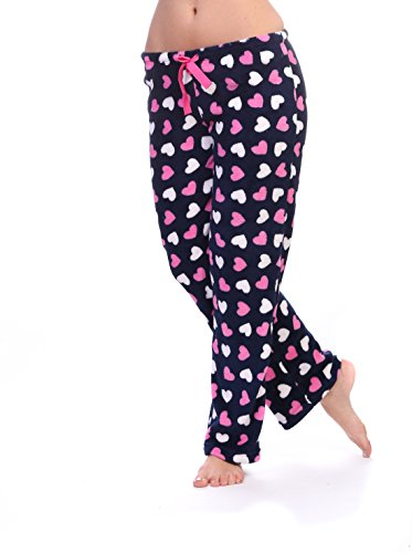 Totally Pink Women s Warm and Cozy Plush Pajama Bottoms (Large 4c0cdf67a