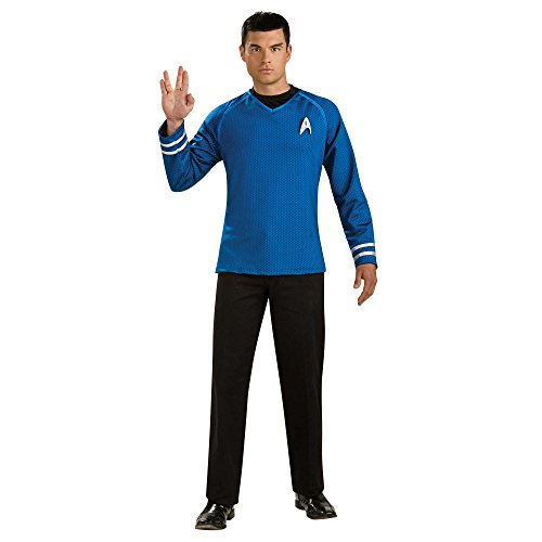 [Rubie's Star Trek Grand Heritage Spock Adult Blue Costume, X-Large | 889161] (Grand Heritage Spock Costumes)