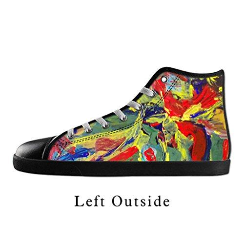 [JIUDUIDODO Women's Casual Fashion Kandinsky Artwork Canvas Lace Up High top Shoes Sneakers US10] (Pretty Little Liars Halloween Costume)