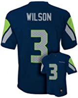 New Seattle Seahawks RUSSELL WILSON Youth Boys Jersey, Navy Blue