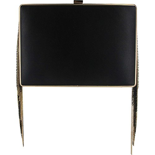 sondra-roberts-fringe-box-clutch-black-gold