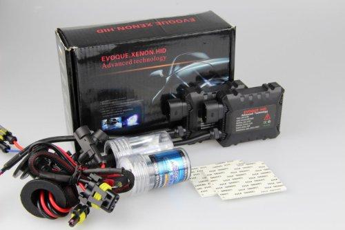 Car HID Xenon Single Beam Conversion Kit (12V, 35W) - 2 pcs HID Ballasts and 2 pcs H4 Xenon HID Bulbs Lamps Lights 6000K Diamond White