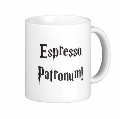 Pair Of 15 Ounce Espresso Patronum Harry Potter Coffee Mugs - Dishwasher And Microwave Safe