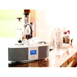 Auluxe Reverie Stereo-Lautsprecher für Apple iPod und iPhone silber/weiß