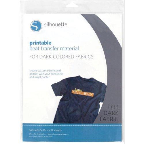 Materiale stampabile e trasferibile per tessuti scuri Silhouette