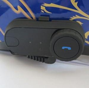 Koolertron Waterproof Wireless Bluetooth Intercom / Music Headset Auto Receive Call for Motorcycle Ski Atv Bike Set of 2 with 800 Meters Maximum Communication Range by Rupse