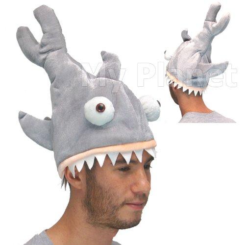 Squalo Attack Bite a forma di ganasce Unisex stile peluche Costume da trucco magico pesce cappello