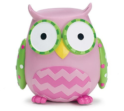 Whooo's Cutest Pink Owl Shaped Coin Bank