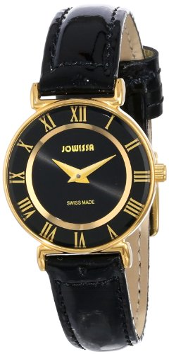 Jowissa  Watches lightning deal: Jowissa Women's J2.039.S Roma 24 mm Gold PVD Black Dial Roman Numeral Leather Watch