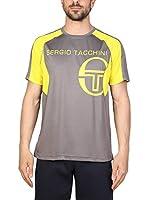 Sergio Tacchini Camiseta Manga Corta (Gris / Amarillo)