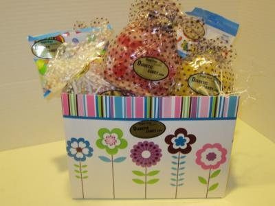 Sugar Free Spring Gift Basket Diabetic Candy perfect for Mom on Mother's day (Butterscotch Jelly Beans compare prices)