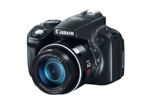 Canon PowerShot SX50 HS Fotocamera Compatta Digitale 12.1 Megapixel, Zoom ottico 50x, Processore DIGIC 5, colore: Nero Picture
