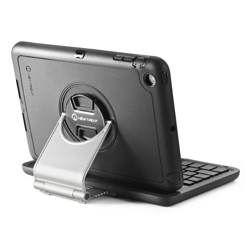 Ipad Mini Keyboard Case, New Trent Airbender Mini - [Full-Body Rugged] [Water Resistant, Dirt And Shockproof] Wireless Bluetooth Ipad Mini Keyboard Case With [Built-In Screen Protector] -Fits Ipad Mini And Ipad Mini With Retina Display