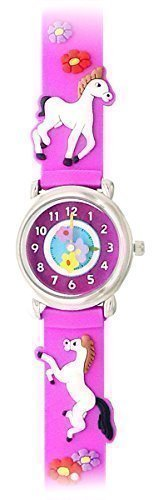 [Playful Ponies (Light Purple) - Gone Bananas Girls' Watch w/Animated Flowers - WATERPROOF - Safe for the Bath, Shower & Pool - Cute Childrens Time Teacher] (Flower Child Costumes Ideas)