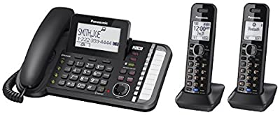 Panasonic KX-TG9582B Link2Cell DECT_6.0 2-Handset 2-Line Digital Cordless Phone