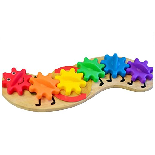 Zeagoo Babyspielzeug Lernspielzeug Holz Kunststoffe Getriebe Spielen