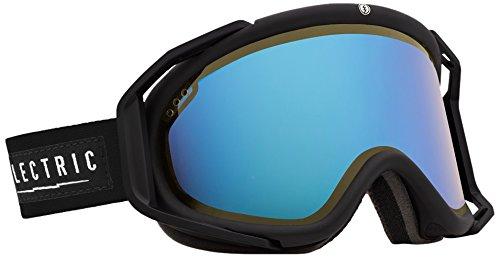 Electric Rig Ski Goggles, Gloss Black, Yellow/Blue Chrome