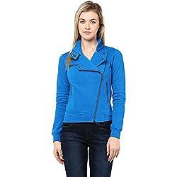 Hypernation Royal Blue Color Jacket for Women