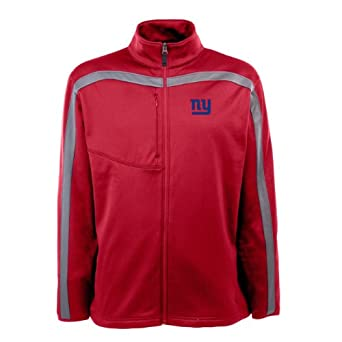 NFL Mens New York Giants Full Zip Viper Fleece Jacket by Antigua