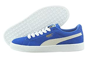 PUMA Suede Junior Sneaker (Little Kid/Big Kid),Snorkel Blue/White,5 M US Big Kid
