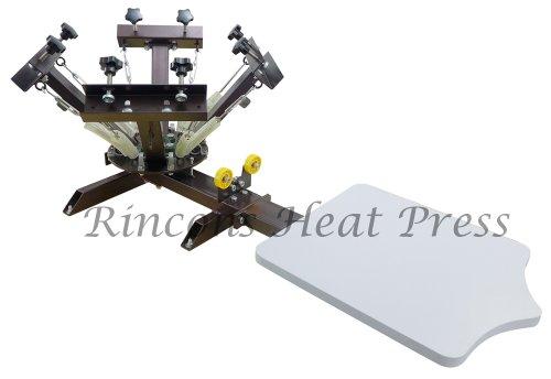 4 Color 1 Station Silk Screen Press