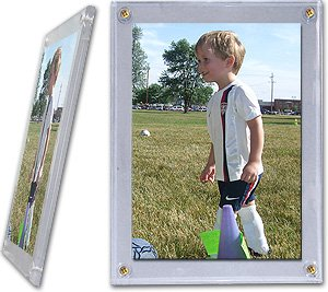 One (1) BCW - 4 x 6 Photo(4 Screw) Screwdown Holder - Photo, Trading Cards, Post Cards Display Case!