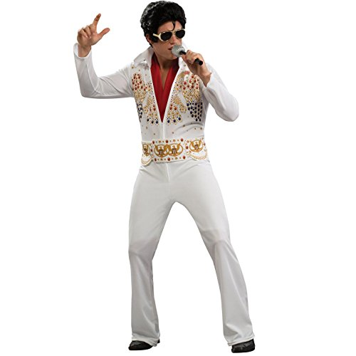Elvis Adult Costume with Wig and Glasses