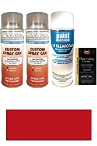 1997 Chrysler Cirrus Candy Apple Red Pearl Tricoat H2/RH2 Touch Up Paint Spray Can Kit - Original Factory OEM Automotive Paint - Color Match Guaranteed