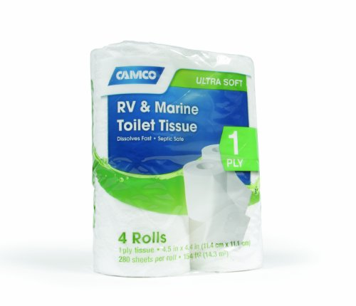 Camco 40276 RV 1-Ply Toilet Tissue - 4 Rolls (Toilets For Campers compare prices)
