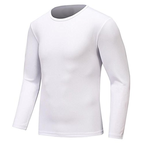 Century Star Mens Sport Moisture Wicking Tee Athletic Quick-drying GYM T-shirts White L