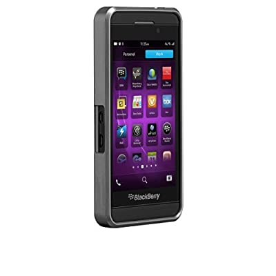 Case-Mate Blackberry Z10 Faux Brushed Aluminum - Retail Packaging - Silver by Case-Mate