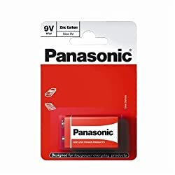 Panasonic Zinc Carbon Battery - 9V by TheWorks
