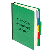 Employee-Personnel Folder, Classification Style, Top Tab 1/3, Letter Size, Green