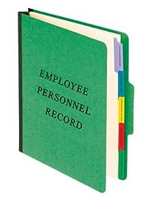 Pendaflex Employee-Personnel Folder, Classification Style, Top Tab 1/3, Letter Size, Green