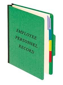 Pendaflex Vertical Personnel Folders, 1/3 Cut, Top Tab, Letter, Green, Pack of 10 (SER-1-GR)