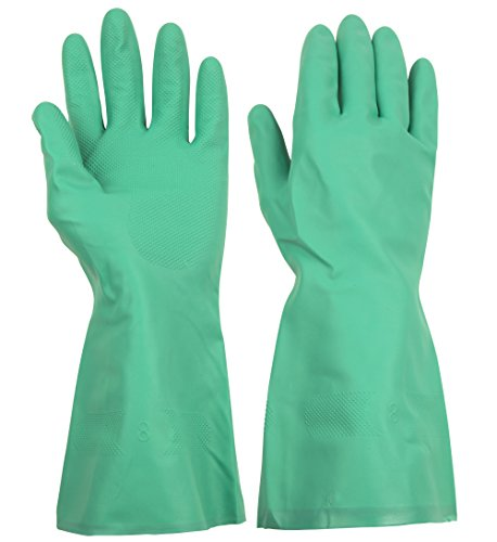 ThxToms Household Chemical Resistant Nitrile Gloves, Oil, Acid, Alkali and Solvent Resistant, Small, 1 Pair