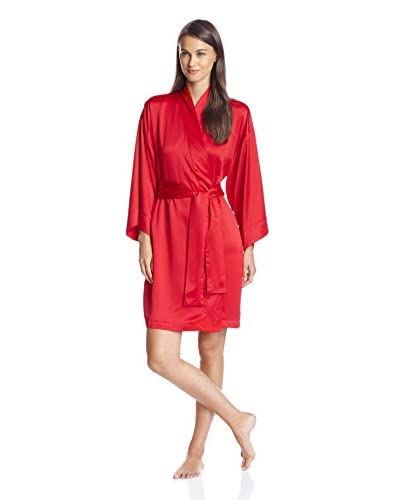 Natori Women's Solid Essential Satin Short Robe