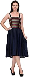 R&V Women's A-Line Dress (Navy)