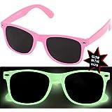 DIE ORIGINAL NERD CLEAR® Sonnenbrille Rosa leuchtet
