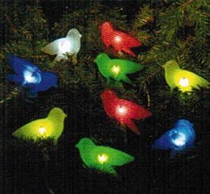 solar 9 bird string lights garden outdoors
