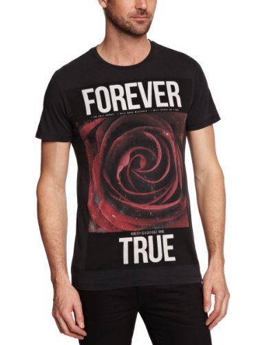 Sinstar Forever True Crew Printed Men's T-Shirt Vintage Black Small