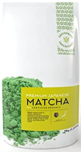 Premium Ceremonial Grade Organic Matcha Green Tea Powder - 35g - Top Tasting Excellent Source of Clean Energy Aids Digestion Revitalizes Skin & Hair Potent Antioxidant Provider & Metabolism Booster Cultivated in Japan 120% Money Back Guarantee